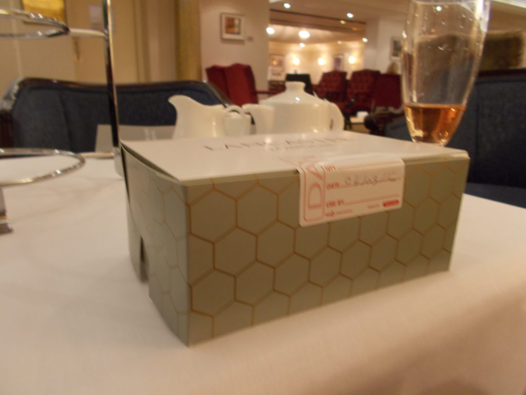 Packaged to go - Lancaster London Afternoon Tea