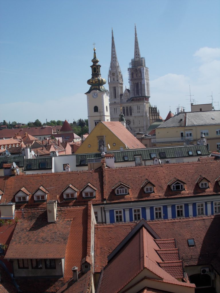 Zagreb Cathedral across Rooftops