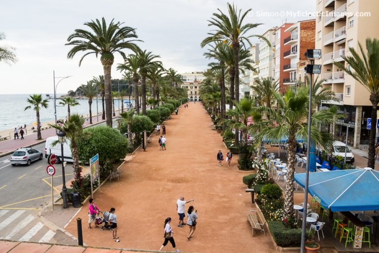 A Birdseye View of the Esplanade in Lloret de Mar from Maritime Museum in a Home of the Indianos
