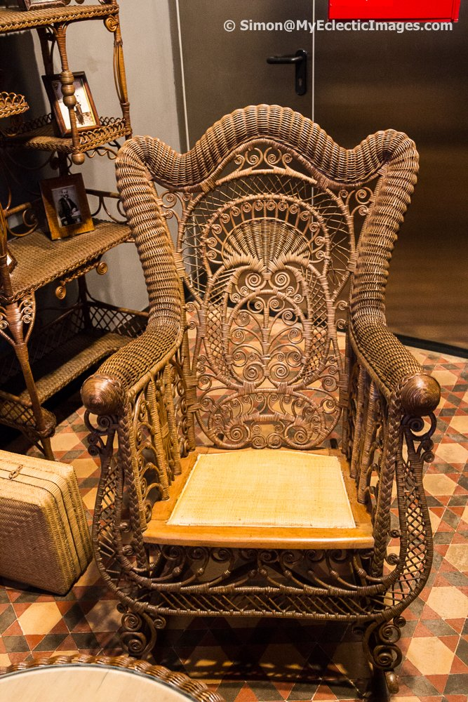 An antique Wicker Chair in Lloret's Maritime Museum