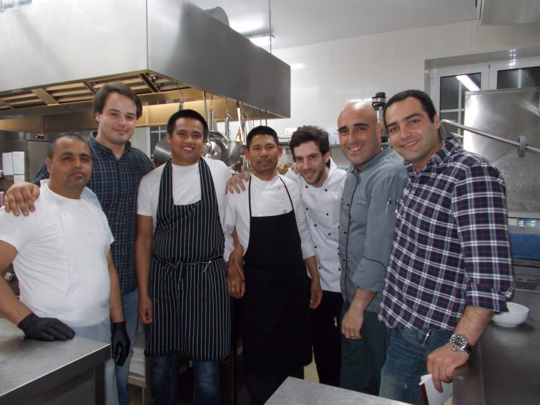 O Reserva Chef Pedro Santos, Manager Ricardo Frois, Server Carlos Sousa, Assistants to the Chef - Joao Ribeiro, Hamanta, Aovi, Surya