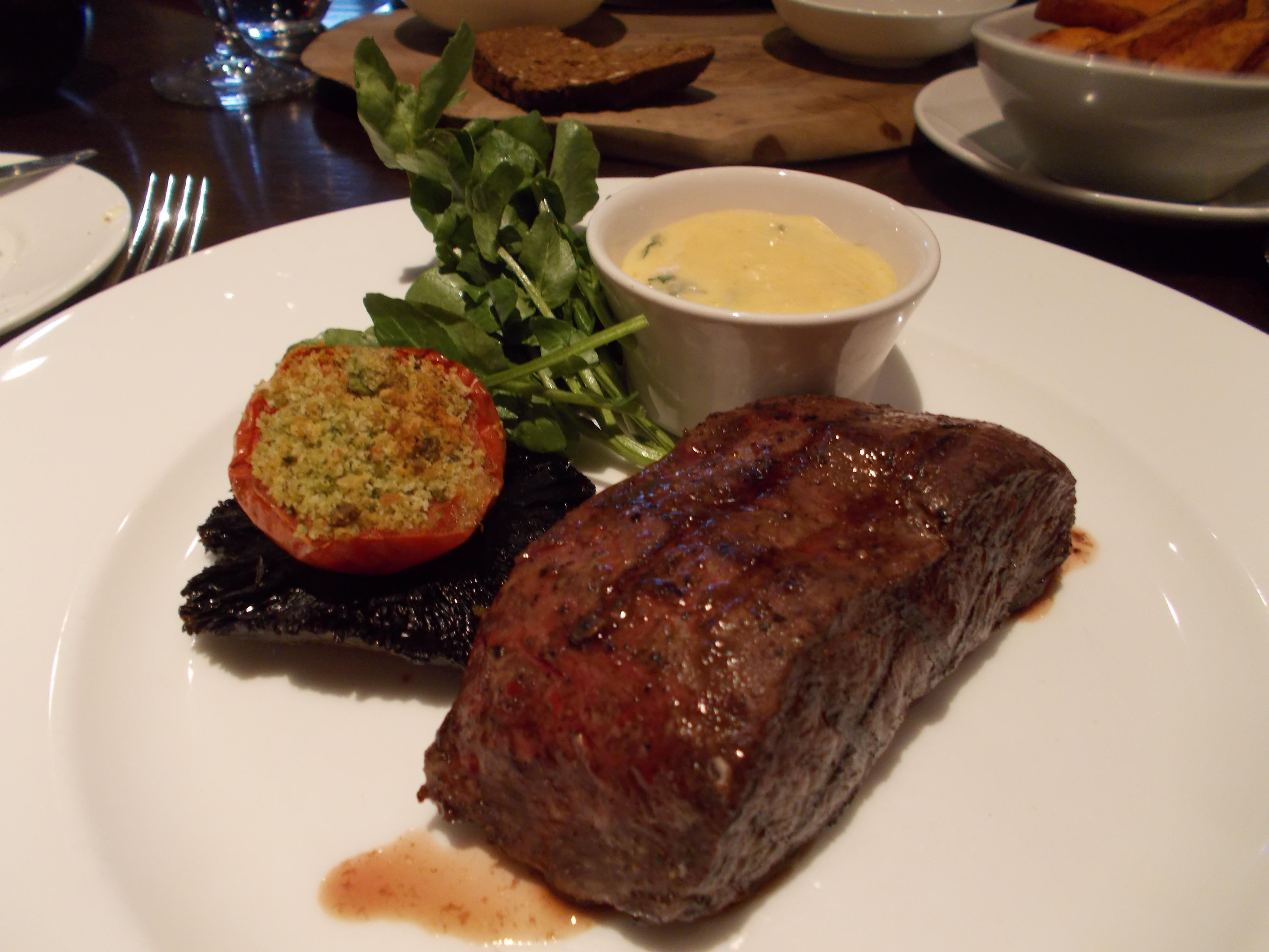 Flat Iron Steak with Bernaise Sauce Hunter 486