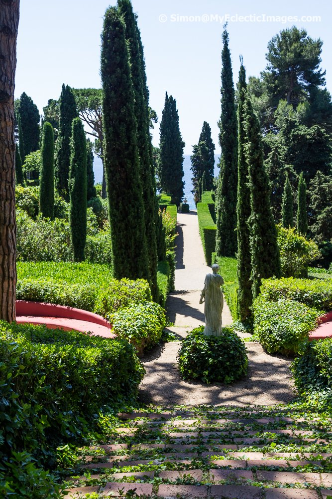 One of the Magnificent Tree and Shrub Lined Walkways in Santa Clotilde Gardens