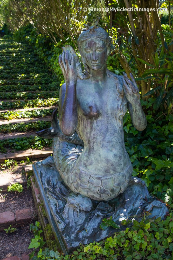 One of the Sirens in Santa Clotilde Gardens
