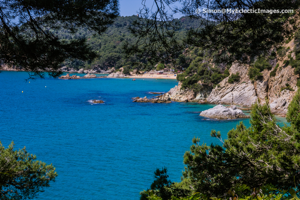 View from Santa Clotilde Gardens in Lloret de Mar Overlooking the Mediterranean