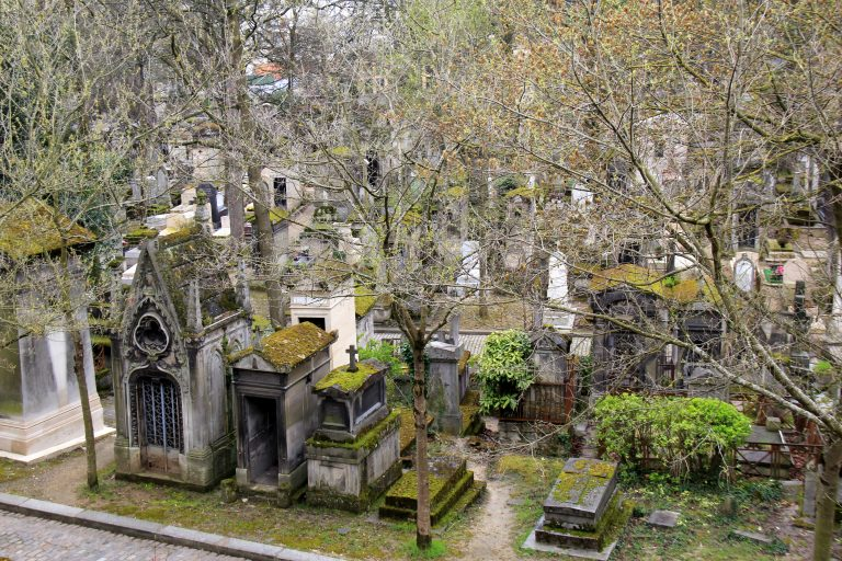 Pere Lachaise Cemetery Birds Eye View