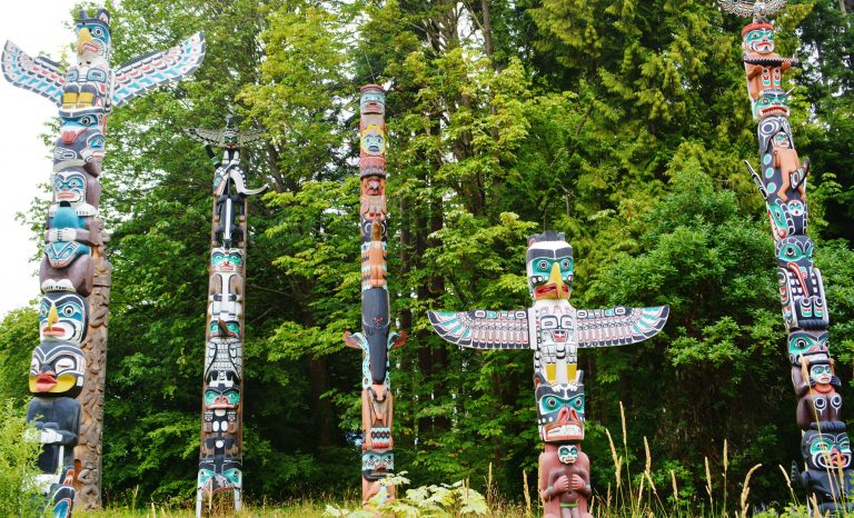 Totems in Stanley Park - Vancouver