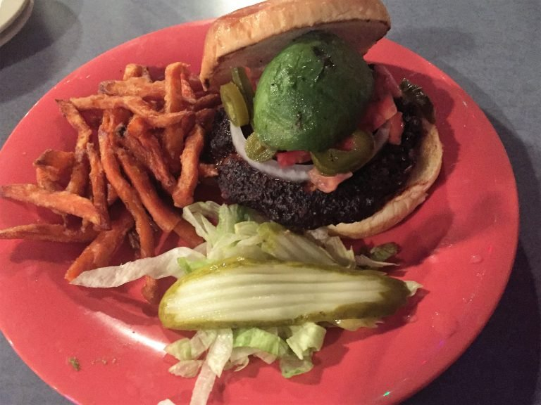 Niffer's black bean vegan burger - Opelika Eateries