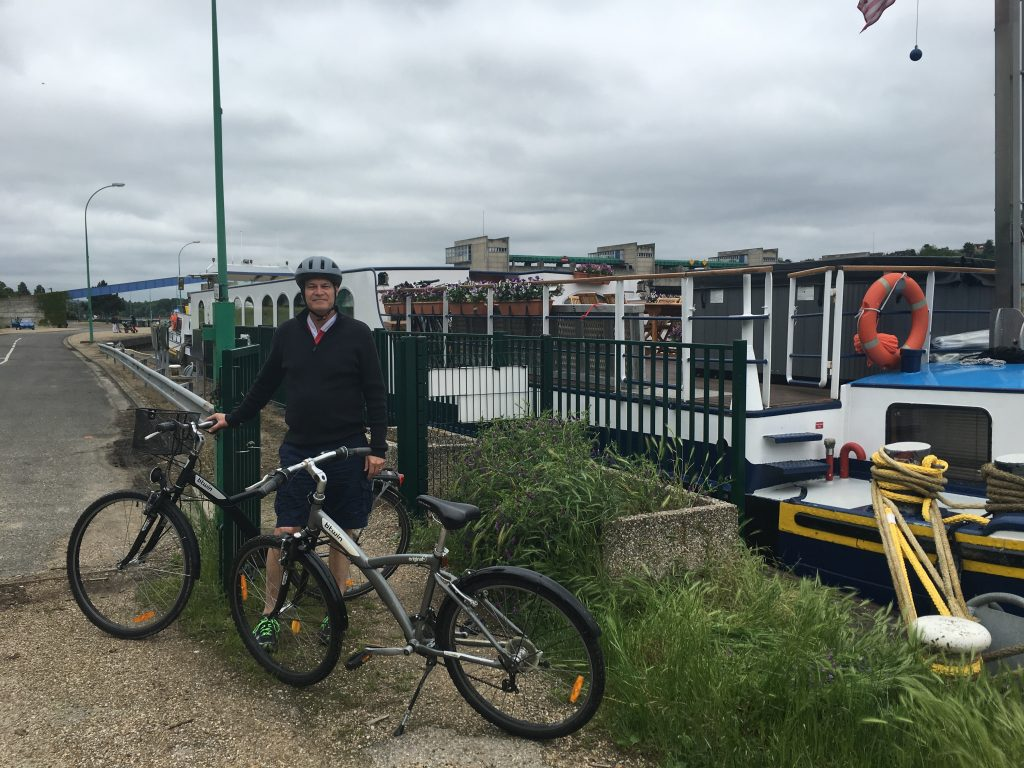 Cycling along Canal - Finding Balance on a Barge in France
