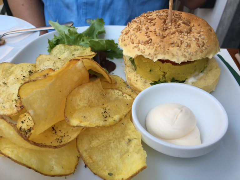 Veggie Burger at Os Bordellos Cascais