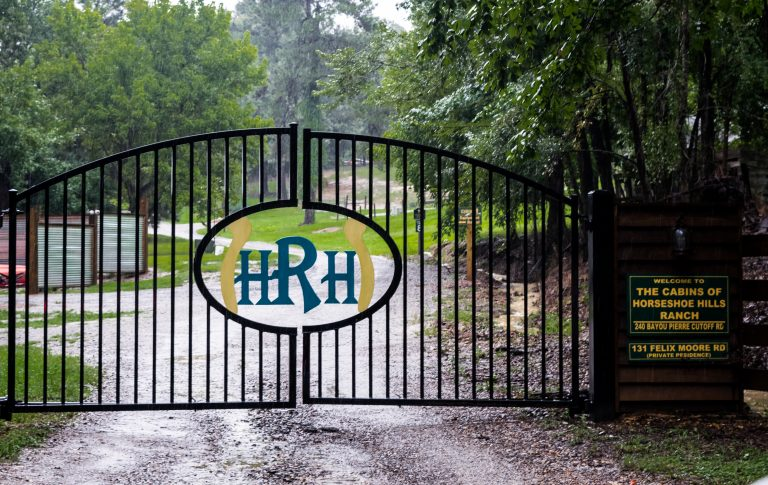 Secure gated entry to Horseshoe Hills Ranch