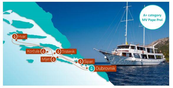 Katarina Line Croatia Cruise Route KL5