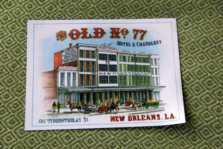 Drink Coaster - Old 77 Hotel and Chandlery New Orleans