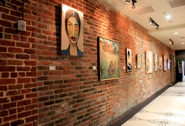 Paintings on brick wall -Old 77 Hotel and Chandlery