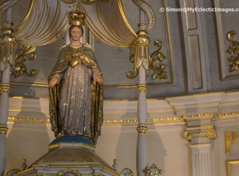 Statue of the Virgin Mary in the Original Church Our Lady of the