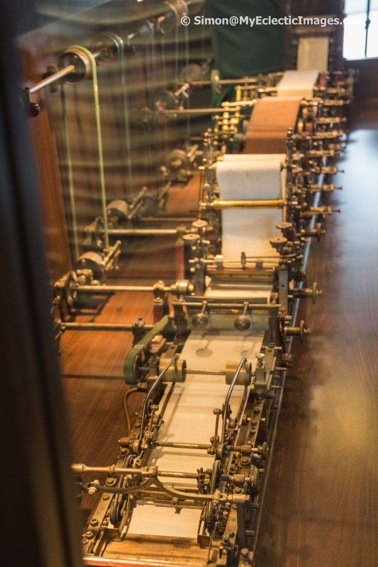 Model of a Paper Manufacturing Production Line in the Lobby of Borealis