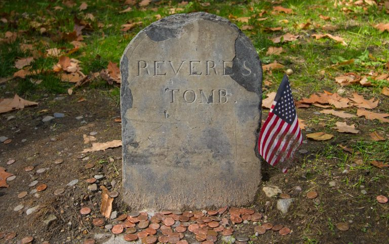Paul Revere Tomb in Granary Burying Grounds