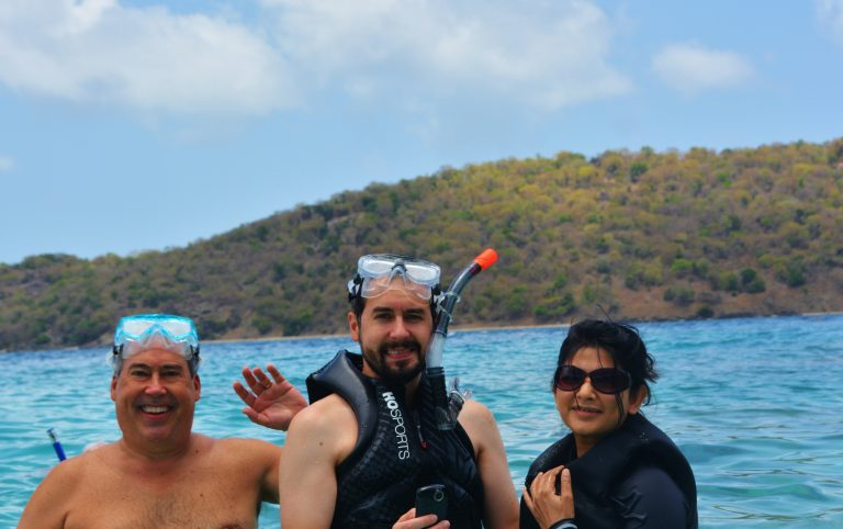 Getting ready to snorkel at Diamond Reef