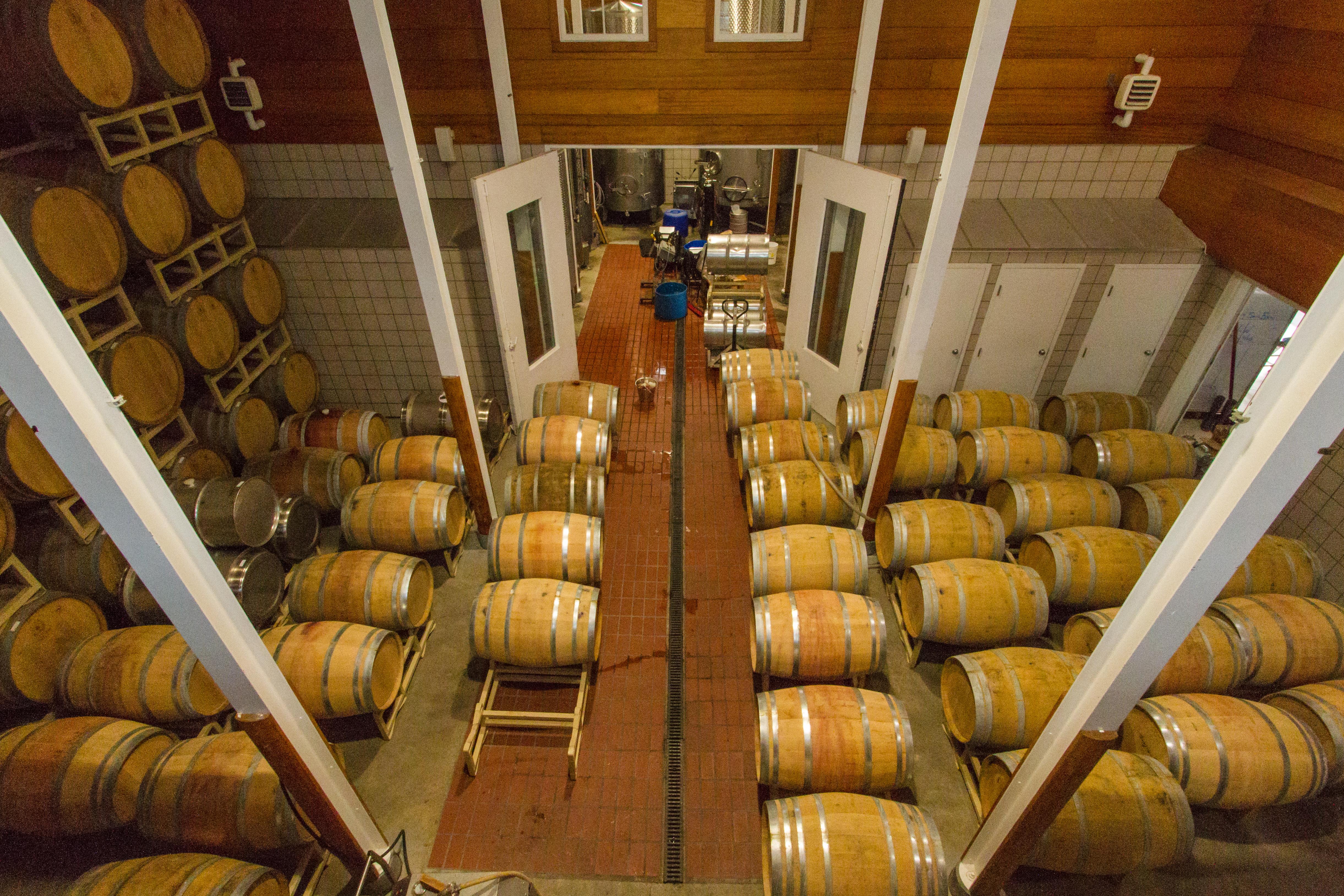 Barrel Room at Jonathan Edwards Winery