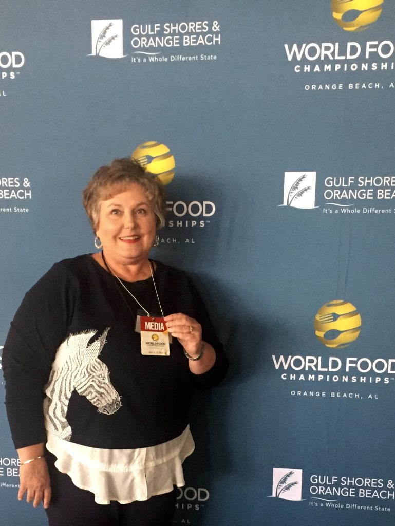 Connie as a WFC judge at World Food Championships in Orange Beach