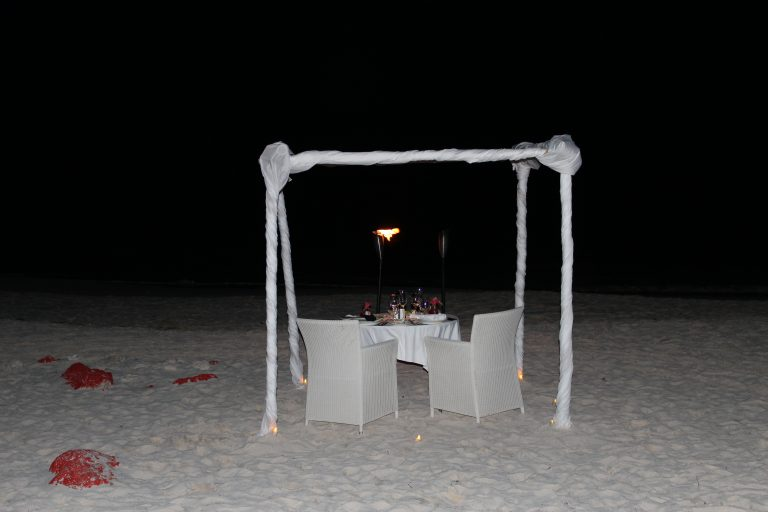 Dining on the Beach at Sandals Barbados