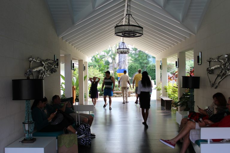 Guests Enjoying Lobby at Sandals Barbados