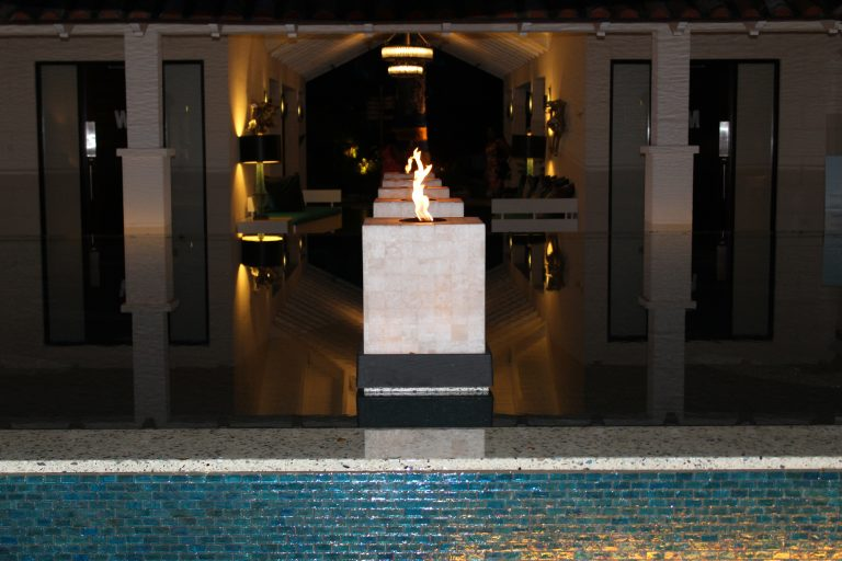 Water Feature - Open Air Lobby Sandals Barbados