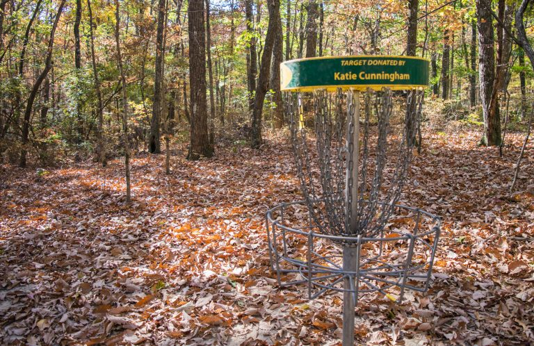 Disc Golf Target in Woods at Monte Sano State Park
