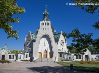 The Main Entrance to the Basilica Notre-Dame-du-Cap - Our Lady of the Cape