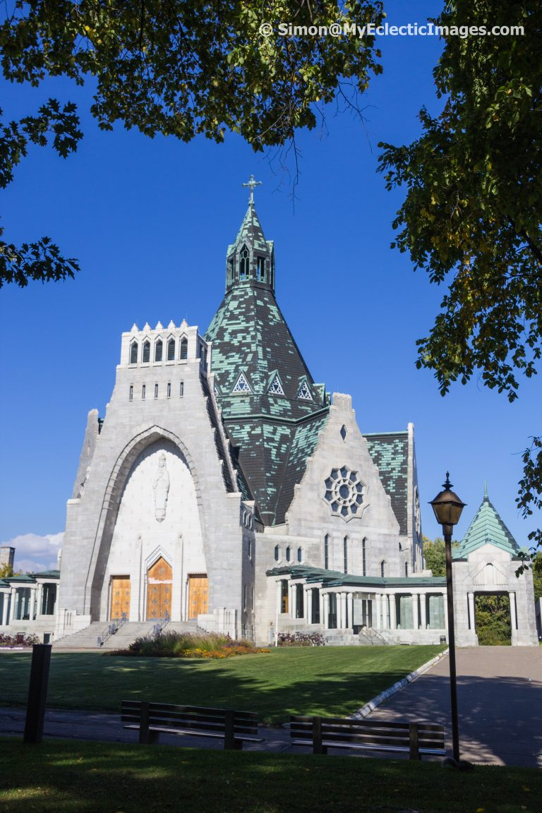 Exterior of the Basilica Clearly Showing the Teepee Shape of the Roofline - Our Lady of the Cape Shrine in Trois-Rivières, Quebec