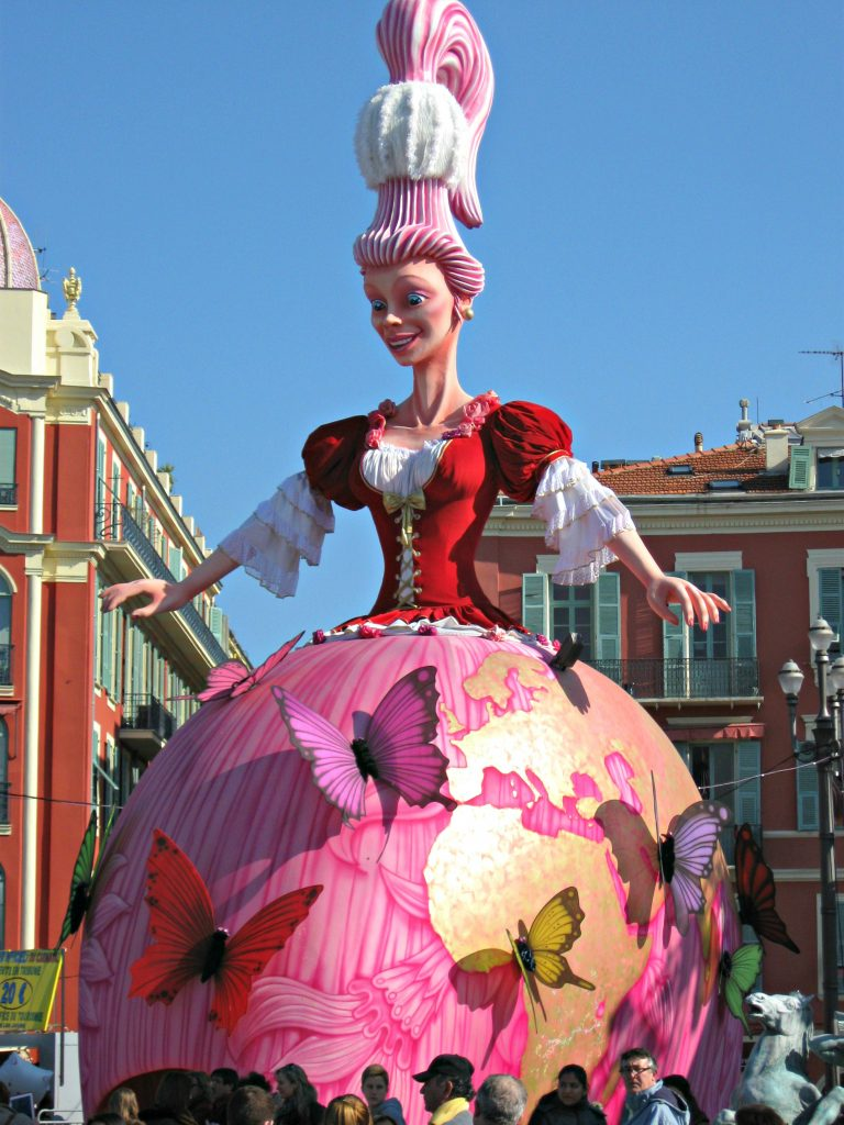The Carnaval Queen at Carnaval Nice France