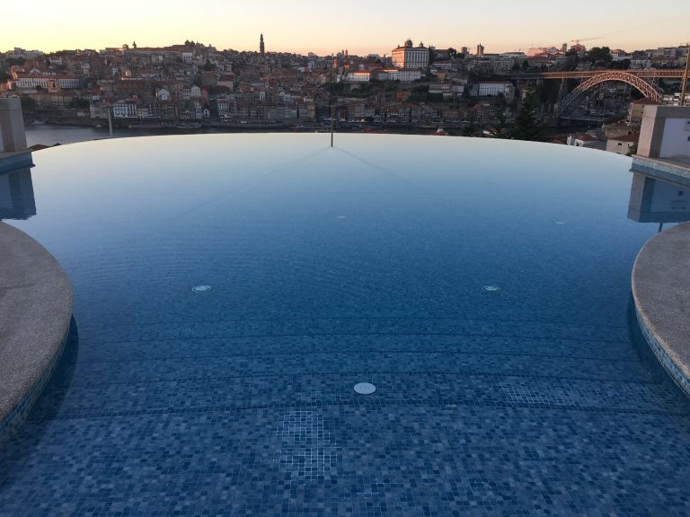 Infinity Pool at Yeatman Hotel Overlooking Porto