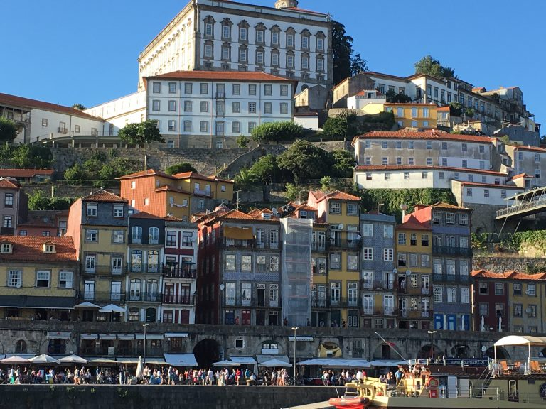 Ribeira District of Porto on the Douro River