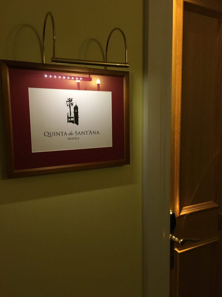 Room Sign at Yeatman Hotel Portugal