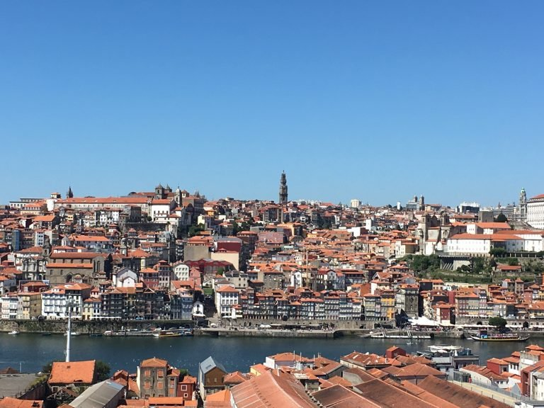 View of Porto from Yeatman Hotel in Vila Nova de Gaia