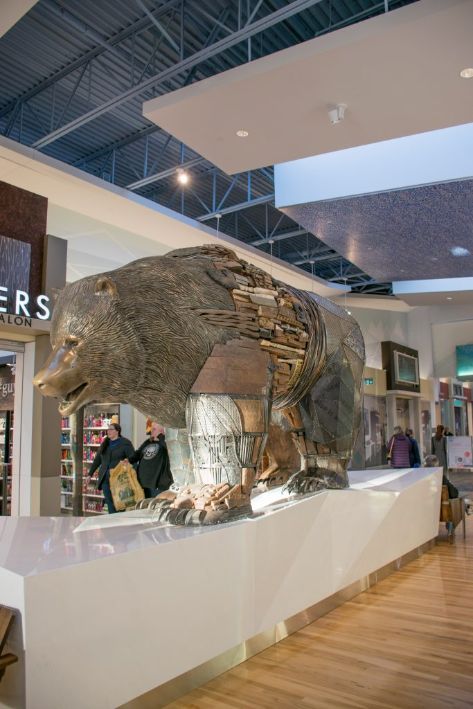 The Bear Artwork in Tsawwassen Mills