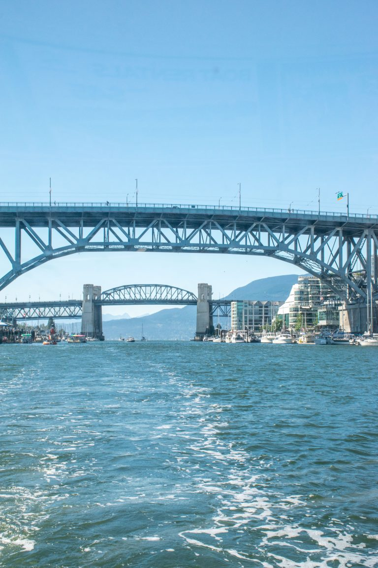 Burrard St Bridge and Granville St Bridge BC