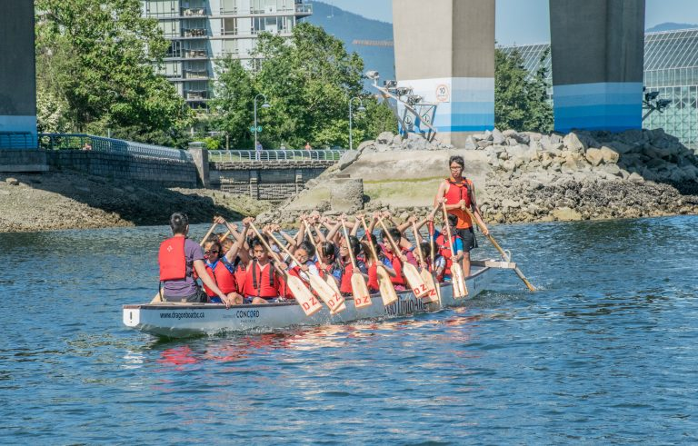 Dragon Boat Practice on False Creek BC