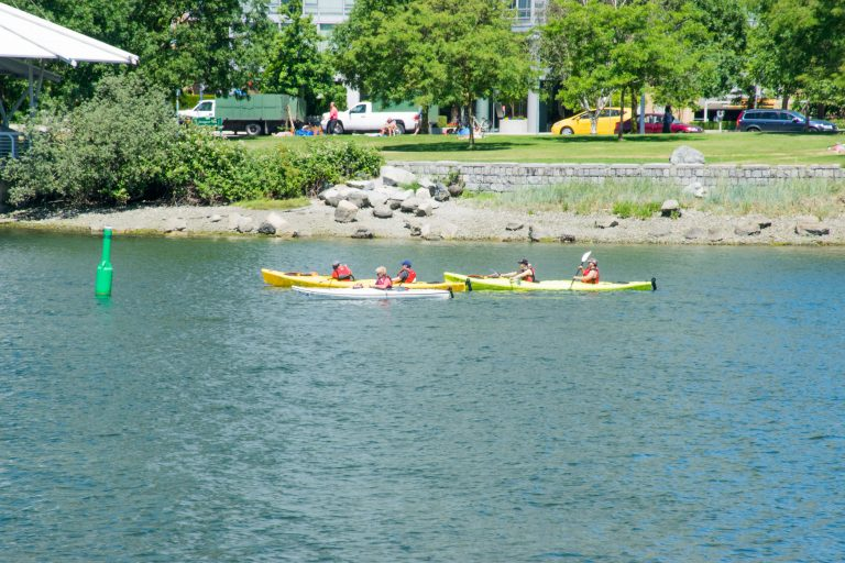 Kayaking on False Creek