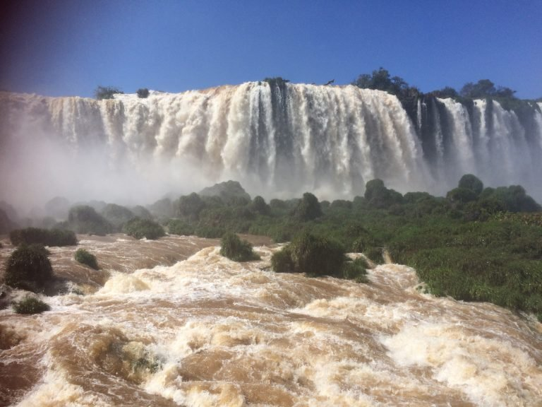 Powerful Iguazu Falls