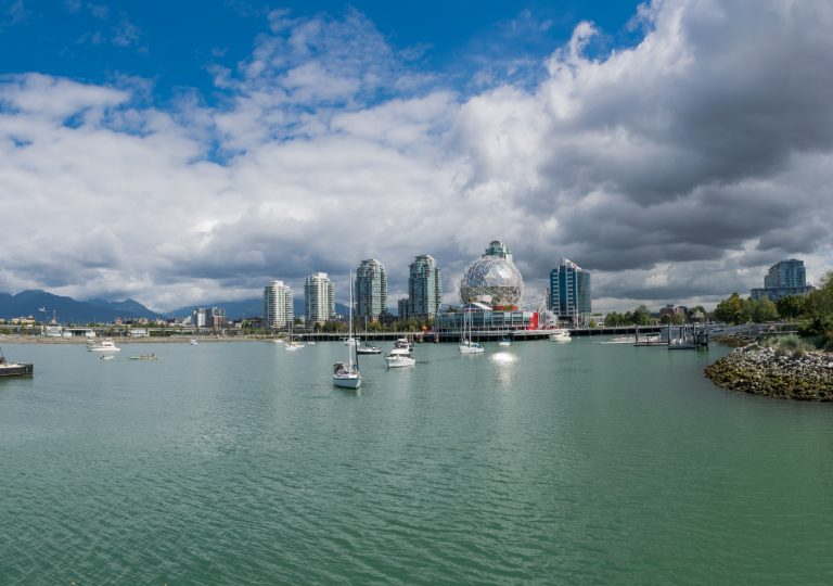Vancouver City Skyline at West End of False Creek