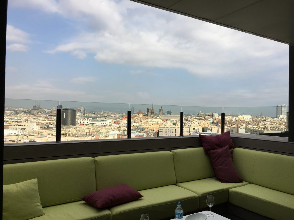 View from Rooftop Lounge Hotel Barcelona Universal