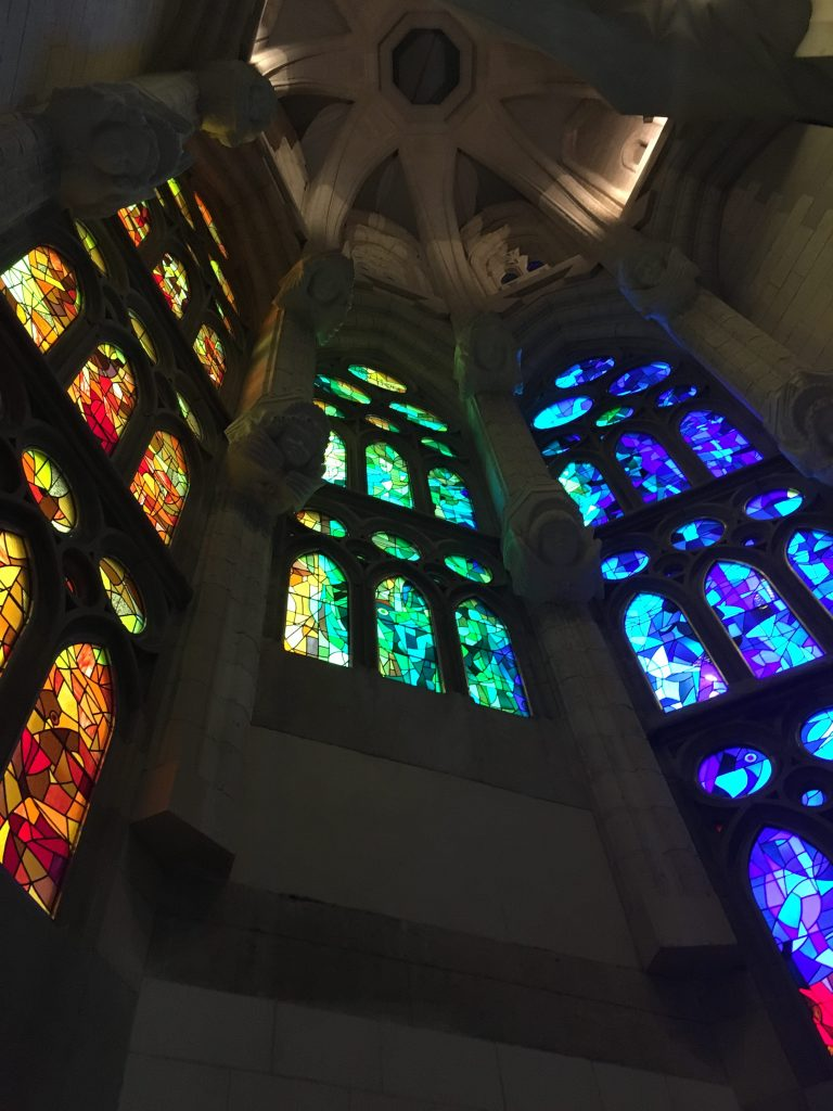Windows in La Sagrada Familia