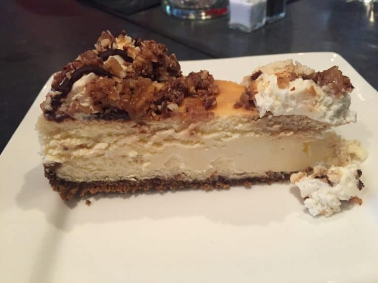 Albany Bistro Coffee and Toffee Cheesecake