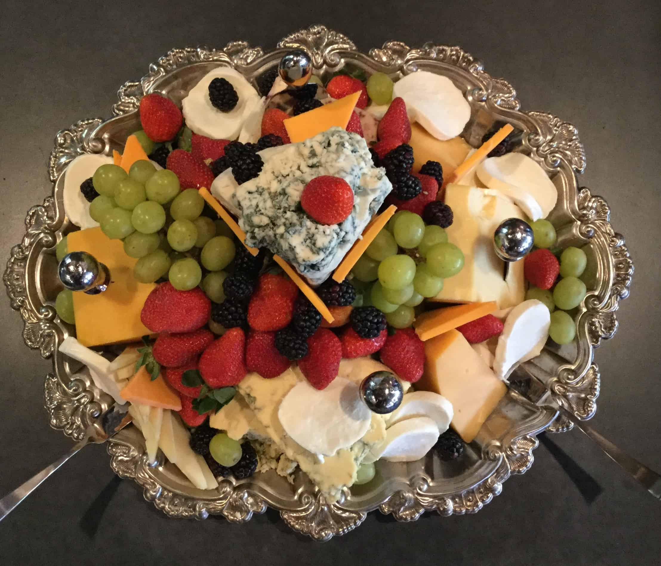 Albany Bistro cheese board for catering