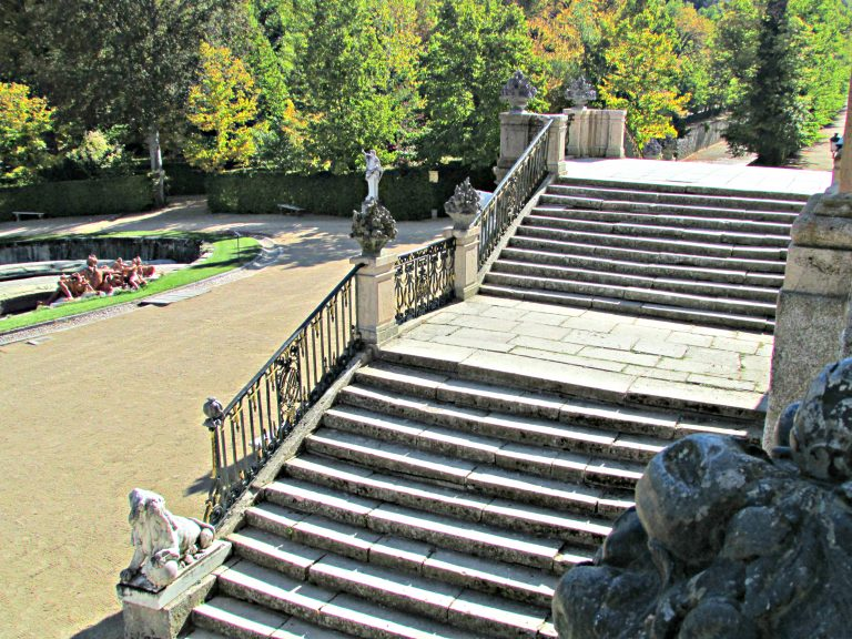 Back staircase Royal Gardens of La Granja