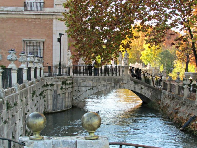 Bridge to the Island Garden Royal Palace of Aranjuez