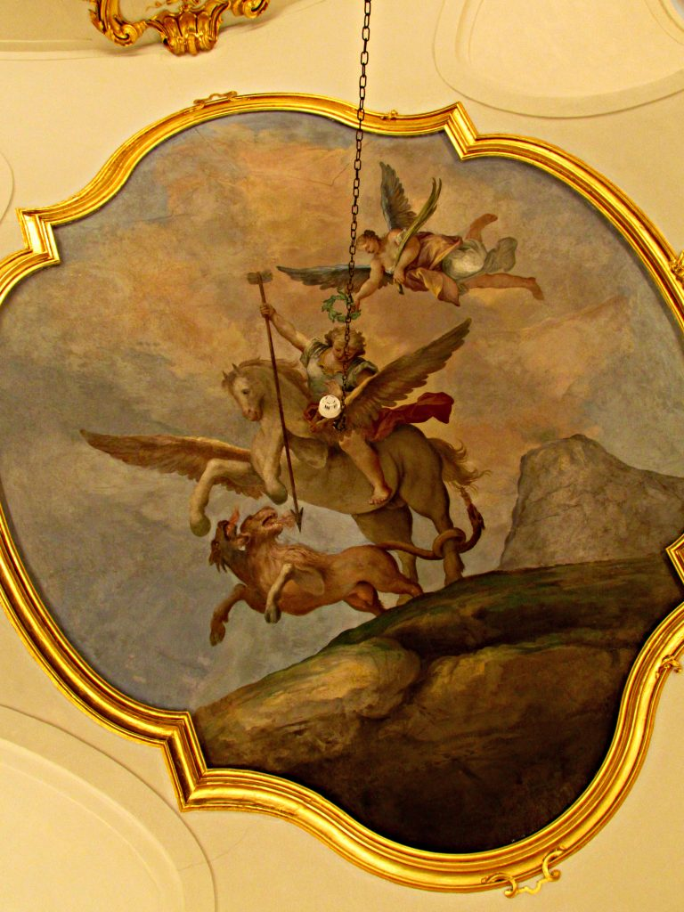 Ceiling Fresco in Royal Palace of La Granja