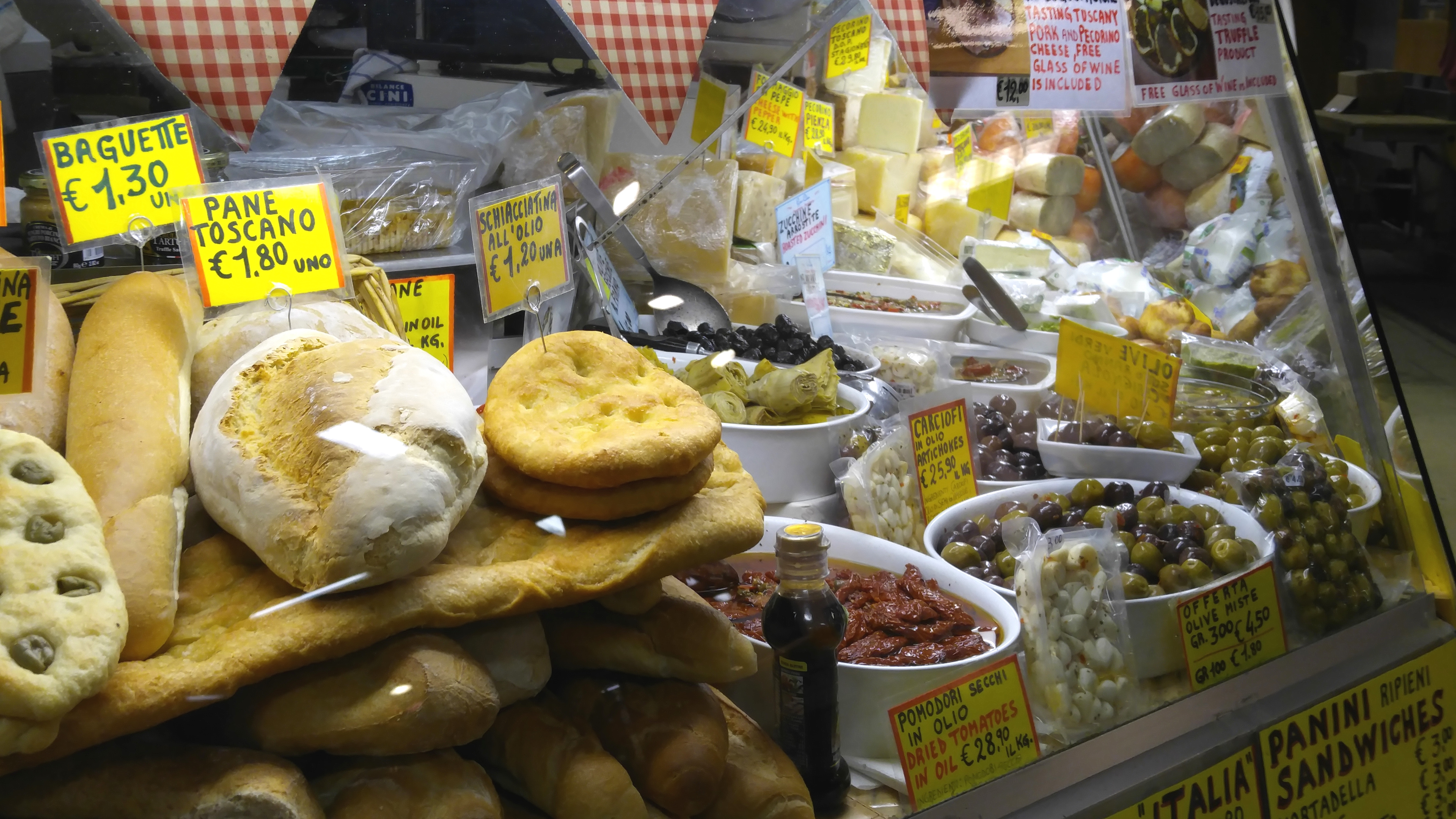 Cheese and Olives at Mercato Centrale Firenze