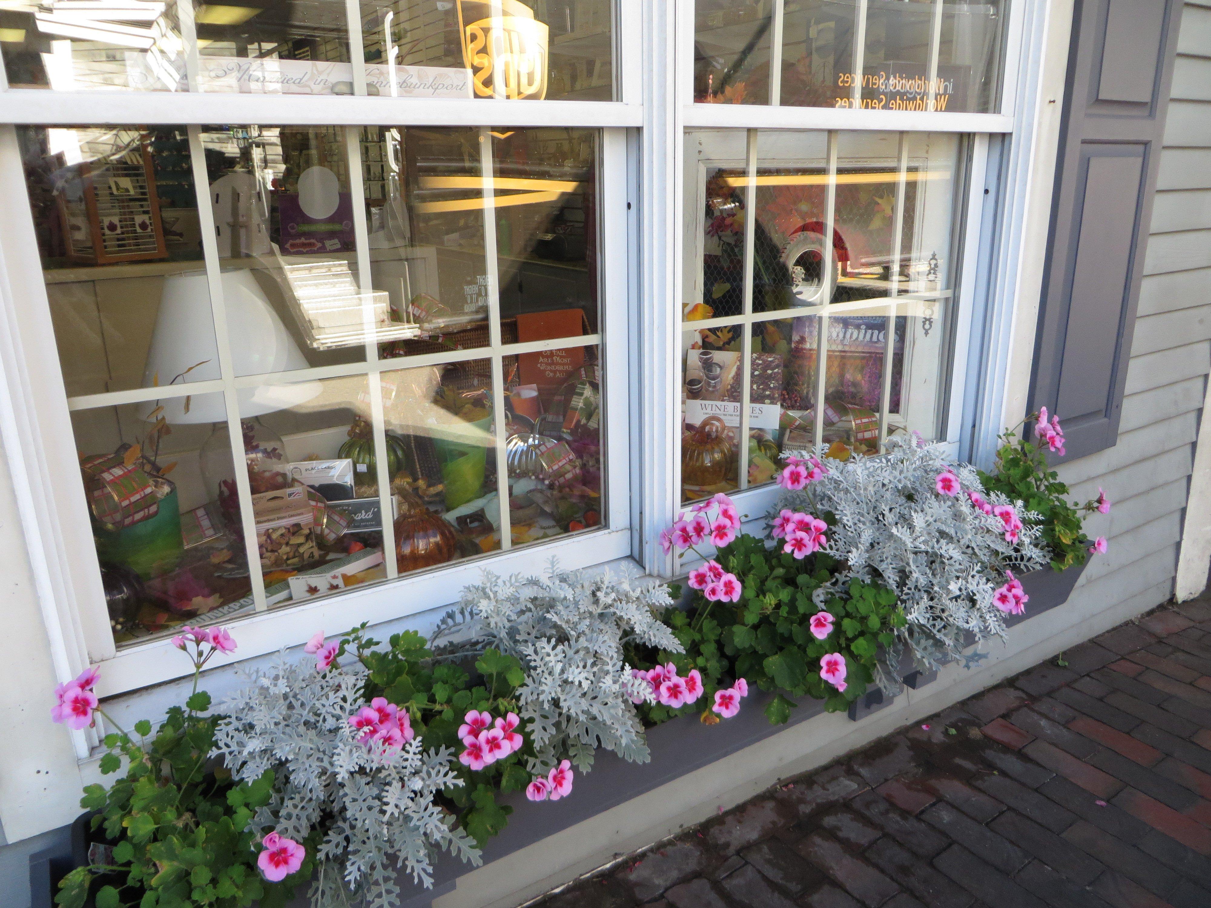 Dock Square shop window Kennebunkport